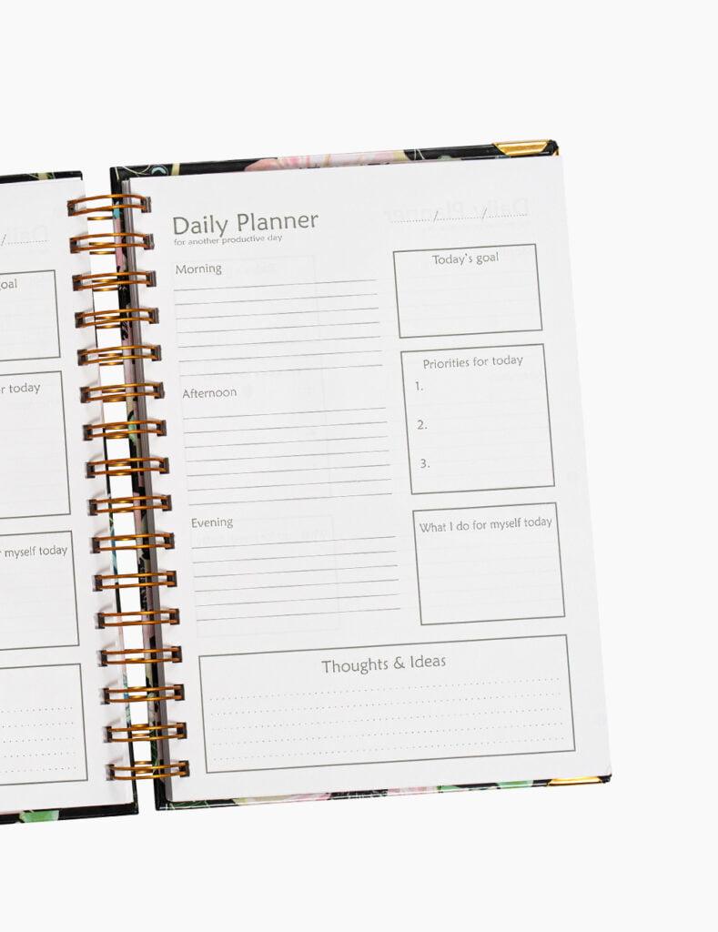Agenda Daily Planner Dots Anemones A5 300 file DAILYANEMONES